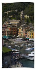 Portofino In The Italian Riviera In Liguria Italy Bath Towel
