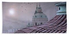 Prague Roof Tops Bath Towel