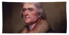 President Thomas Jefferson Hand Towel by War Is Hell Store