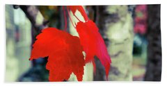 Bath Towel featuring the photograph Red by Ronda Broatch