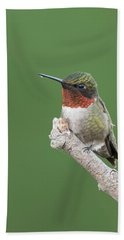 Ruby-throated Hummingbird Bath Towel