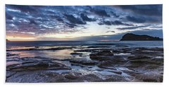 Seascape Cloudy Nightscape Bath Towel