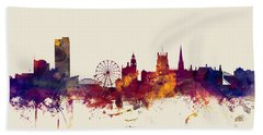 Sheffield England Skyline Bath Towel