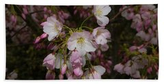 Silicon Valley Cherry Blossoms Bath Towel by Glenn Franco Simmons
