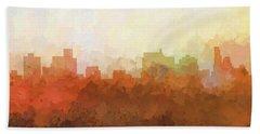 Hand Towel featuring the digital art Springfield Illinois Skyline by Marlene Watson