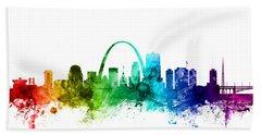 St Louis Missouri Skyline Hand Towel by Michael Tompsett