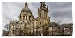 St Pauls Cathedral Bath Towel by Shirley Mitchell