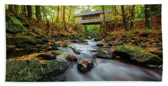 Tannery Hill Covered Bridge Hand Towel