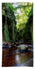 The Devil Pulpit At Finnich Glen Hand Towel by Jeremy Lavender Photography