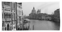 The Grand Canal In Venice Hand Towel