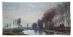 The Petit Bras Of The Seine At Argenteuil Bath Towel