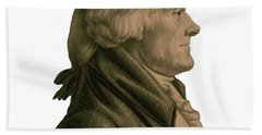Thomas Jefferson Profile Bath Towel