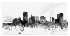 Toledo Ohio Skyline Hand Towel by Michael Tompsett
