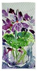 Violet Hand Towel by Kovacs Anna Brigitta