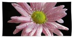 Pink Flower Hand Towel