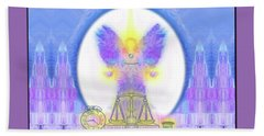 Hand Towel featuring the digital art 444 Justice #197 by Barbara Tristan