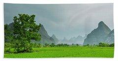 The Beautiful Karst Rural Scenery Hand Towel