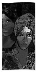 Hand Towel featuring the digital art 452 - Secrets Of Friendship by Irmgard Schoendorf Welch