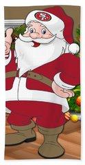 49ers Santa Claus Hand Towel