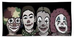4happy Clowns 80 Bath Towel by Megan Dirsa-DuBois