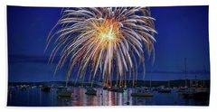 Bath Towel featuring the photograph 4th Of July Fireworks by Rick Berk