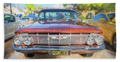 Hand Towel featuring the photograph 1961 Chevrolet Impala Ss  by Rich Franco