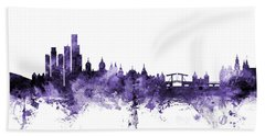 Amsterdam The Netherlands Skyline Bath Towel