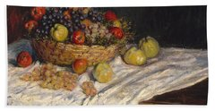 Apples And Grapes Bath Towel