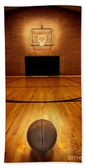 Basketball And Basketball Court Hand Towel