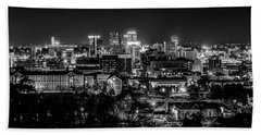 Birmingham Alabama Evening Skyline Hand Towel