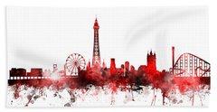 Blackpool England Skyline Hand Towel