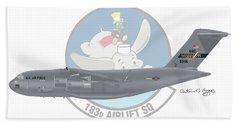 Hand Towel featuring the digital art Boeing C-17 Globemaster IIi by Arthur Eggers