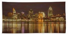 Cincinnati, Ohio Hand Towel by Scott Meyer