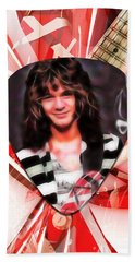 Eddie Van Halen Art Hand Towel by Marvin Blaine