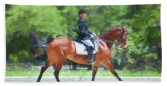 Equestrian Event Rocking Horse Stables Painted  Hand Towel