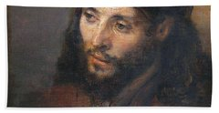Head Of Christ Hand Towel