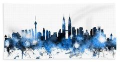 Kuala Lumpur Malaysia Skyline Hand Towel