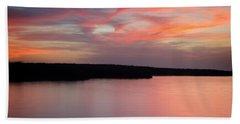 Lake Sunset Hand Towel