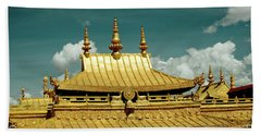 Lhasa Jokhang Temple Fragment Tibet Artmif.lv Bath Towel