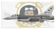 Lockheed Martin F-16c Viper Bath Towel by Arthur Eggers