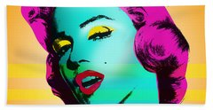 Marilyn Monroe Hand Towel by Mark Ashkenazi