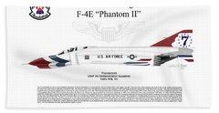 Mcdonnell Douglas F-4e Phantom II Thunderbird Bath Towel