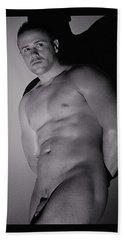 Model Call Bath Towel by Jake Hartz