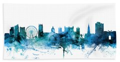 Nottingham England Skyline Bath Towel