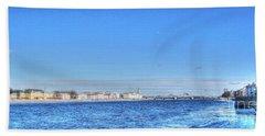 Bath Towel featuring the pyrography Peterburg Summer by Yury Bashkin