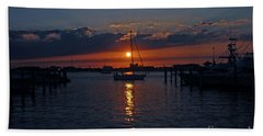 Bath Towel featuring the photograph 5- Sailfish Marina Sunset In Paradise by Joseph Keane