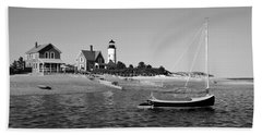 Sandy Neck Lighthouse Hand Towel by Charles Harden