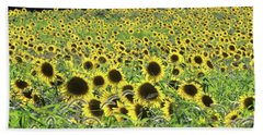 Sunflowers Mattituck New York Hand Towel