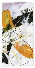 Three Color Palette Hand Towel by Michal Mitak Mahgerefteh