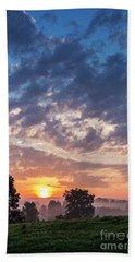 West Virginia Sunrise Bath Towel by Thomas R Fletcher